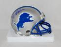 Barry Sanders Autographed *Blue Detroit Lions Mini Helmet- JSA Witnessed Auth