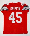 Archie Griffin Autographed Red College Style Jersey W/ H.T.- JSA Witnessed Auth