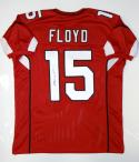 Michael Floyd Autographed Red Pro Style Jersey- JSA W Authenticated
