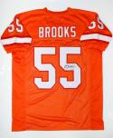Derrick Brooks Autographed Orange Pro Style Jersey- JSA Witnessed Authenticated