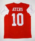 Demarcus Ayers Autographed Red College Style Jersey With Go Coogs- JSA W Auth
