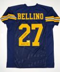Joe Bellino Autographed Navy Blue College Style Jersey With Heisman- JSA W Auth