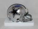 Emmitt Smith Autographed *Blue Dallas Cowboys Mini Helmet W/ HOF- JSA W Auth