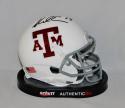 Mike Evans Autographed Texas A&M Aggies White w/ Maroon Mini Helmet- JSA W Auth