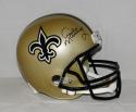 Archie Manning Autographed New Orleans Saints F/S Helmet- JSA Witnessed Auth