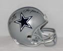 Roger Staubach Drew Pearson Signed Cowboys F/S Helmet W/ Hail Mary- JSA W Auth