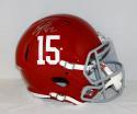 Eddie Lacy Autographed Alabama Crimson Tide Full Size Speed Helmet- JSA W Auth