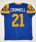 Nolan Cromwell Autographed Blue Pro Style Jersey W/ All Decade Team- JSA W Auth