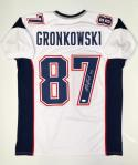 Rob Gronkowski Autographed White Pro Style Jersey- JSA Witnessed Authenticated