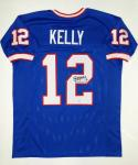 Jim Kelly Autographed Blue Pro Style Jersey- PSA/DNA Authenticated