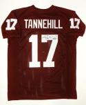 Ryan Tannehill Autographed Maroon College Style Jersey- JSA Witnessed Auth
