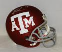 Mike Evans Autographed *Silver Texas A&M Maroon F/S Riddell Helmet- JSA W Auth