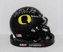 Marcus Mariota Signed Oregon Ducks Black Mini Helmet W/ Heisman- PSA/DNA Auth