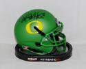 Marcus Mariota Signed *Blk Oregon Ducks Apple Green Mini Helmet- PSA/DNA Auth