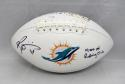 Ricky Williams Signed Miami Dolphins Logo Football W/ Rushing Club- JSA W Auth