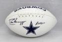 Drew Pearson Autographed Dallas Cowboys Logo Football With ROH and JSA W Auth