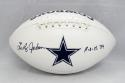 Lee Roy Jordan Autographed Dallas Cowboys Logo Football With ROH and JSA W Auth