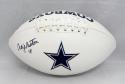 Craig Morton Autographed Dallas Cowboys Logo Football- JSA Witnessed Auth