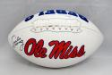 Archie Manning Autographed Ole Miss Rebels Logo Football- JSA Witnessed Auth