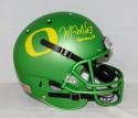 Marcus Mariota Heisman Signed Oregon Ducks Apple Green F/S Helmet- PSADNA Auth