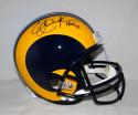 Eric Dickerson Autographed Los Angeles Rams TB F/S Helmet With HOF- JSA W Auth