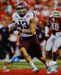 Mike Evans Signed *Blue Texas A&M 8x10 Vertical Running P.F. Photo- JSA W Auth