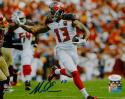 Mike Evans Autographed Tampa Bay 8x10 Stiff Arm P.F. Photo- JSA Witnessed Auth