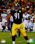 Stephon Tuitt Autographed 8x10 Vertical In Black P.F. Photo- JSA Witnessed Auth
