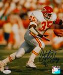 Christian Okoye Autographed Kansas City 8x10 Handoff P.F. Photo- JSA W Auth
