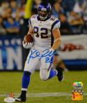 Kyle Rudolph Autographed Vikings 8x10 Vertical P.F. Photo- JSA Witnessed Auth