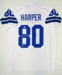 Alvin Harper Autographed White Pro Style Jersey W/ 2X SB Champs- JSA W Auth