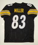 Heath Miller Autographed Black Pro Style Jersey- JSA Witnessed Authenticated