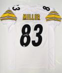 Heath Miller Autographed White Pro Style Jersey- JSA Witnessed Authenticated