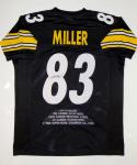Heath Miller Autographed Black Pro Style Stat Jersey- JSA Witnessed Auth