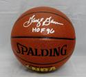 George Gervin Signed *Silver Official NBA Spalding Basketball W/ HOF- JSA W Auth