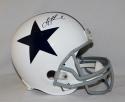 Troy Aikman Autographed *Black Dallas Cowboys F/S White Helmet- JSA W Auth