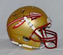 Jameis Winston Autographed *Blk Seminoles F/S Gold Helmet W/ Heisman- JSA W Auth