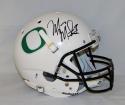 Marcus Mariota Autographed Oregon Ducks White Full Size Helmet- JSA W Auth