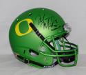 Marcus Mariota Heisman Signed *Blk Oregon Ducks Apple Green Helmet- JSA W Auth