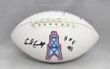 Earl Campbell Autographed Houston Oilers Logo Football with HOF- JSA W Auth