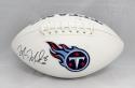 Marcus Mariota Autographed Tennessee Titans Logo Football- JSA Witnessed Auth