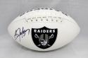 Bo Jackson Autographed Oakland Raiders Logo Football- JSA Witnessed Auth