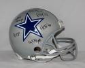 Tony Dorsett Autographed Dallas Cowboys F/S ProLine Helmet 5-Stats *Blk- JSA W Auth