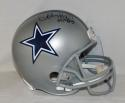 Charles Haley Autographed Dallas Cowboys F/S Helmet With HOF- JSA Witnessed Auth