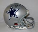 Troy Aikman Signed *Black Dallas Cowboys F/S Silver ProLine Helmet- JSA W Auth