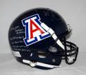 Ka'Deem Carey Autographed Arizona Wildcats F/S Blue Helmet W/ Stats- JSA W Auth