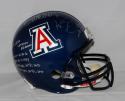 Ka'Deem Carey Autographed Arizona F/S Blue Riddell Helmet W/ Stats- JSA W Auth