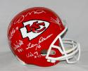 Kansas City Chiefs Full Size Helmet Autographed with 14 Signatures- JSA W Auth