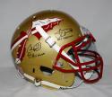 Weinke Ward Winston Heisman Signed Seminoles Gold F/S ProLine Helmet- JSA W Auth