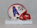 Bubba McDowell Autographed Houston Oilers Mini Helmet- JSA Witnessed Auth